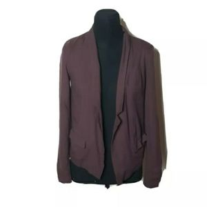 Frenchi Red Deep Wine Open Front Cardigan …